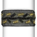 Net Vinyl Headband - Expo Int'l Metallic Net and Beaded Stretch Headband