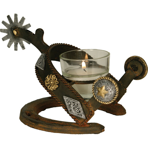 Rivers Edge Products Cast Iron Spur Votive Candle Holder