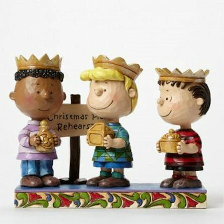 Peanuts (R) Three Wise Men Collectable Nativity Figurine Scene - By Jim Shore
