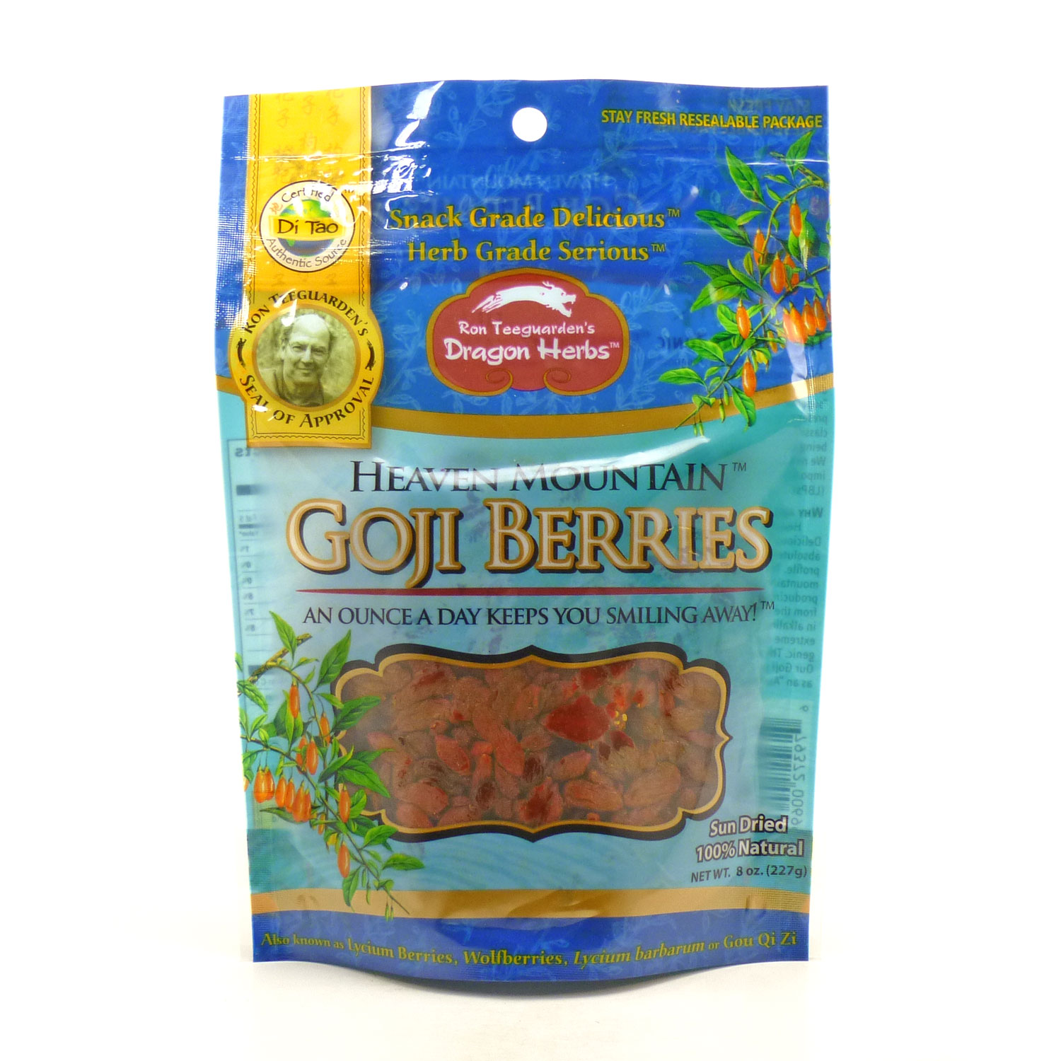 Goji Berries By Dragon Herbs 8 Ounces by Dragon Herbs