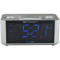 Emerson SmartSet Radio Alarm Clock LED CKS1708