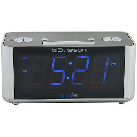 Emerson SmartSet Radio Alarm Clock LED CKS1708
