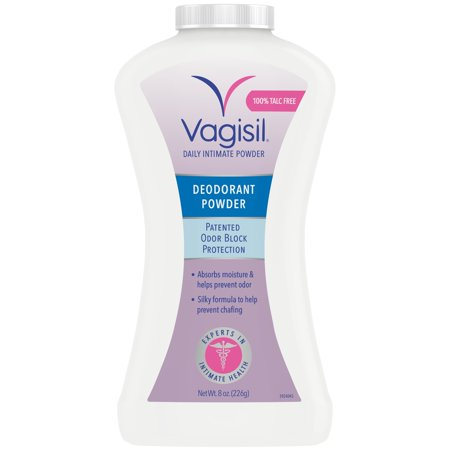 Vagisil Daily Intimate Deodorant Powder, With Patented Odor Block Protection and 100% Talc-Free, 8 ounce