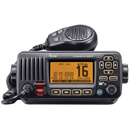 Icom M324-01 25-Watt VHF Radio, Black
