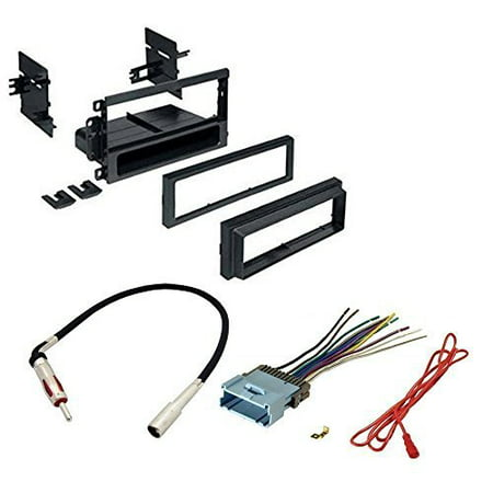 Stereo Install Dash Mount - GMC 2002 - 2009 ENVOY CAR STEREO CD PLAYER DASH INSTALL MOUNTING KIT WIRE HARNESS RADIO ANTENNA