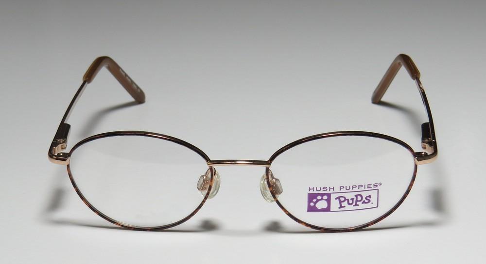 4f3598e165 New Hush Puppies 528 Unisex Boys Girls Kids Designer Full-Rim Gold   Havana Stylish  Elegant Kids Size Frame Demo Lenses 44-16-125 Eyeglasses Eyeglass Frame ...