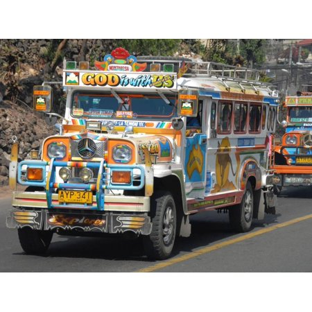 Typical Painted Jeepney (Local Bus), Baguio, Cordillera, Luzon, Philippines, Southeast Asia, Asia Print Wall Art