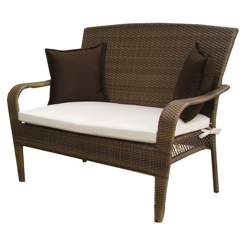 Hospitality Rattan Grenada Patio Loveseat - Viro Fiber Antique Brown