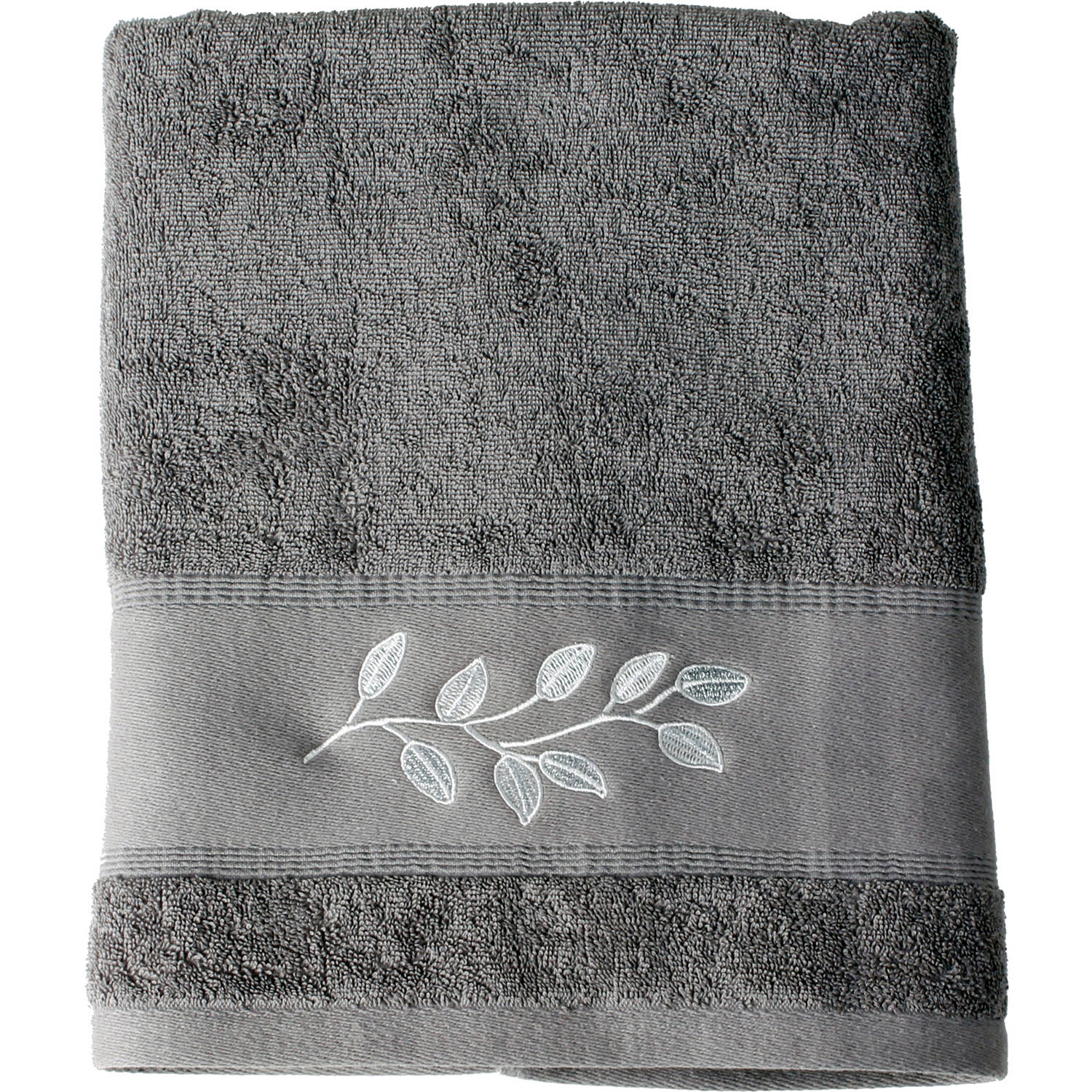 Mainstays Silver Leaves Bath Towel