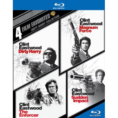4 Film Favorites  Dirty Harry Collection   Dirty Harry   Magnum Force   The Enforcer   Sudden Impact  Blu Ray   Widescreen