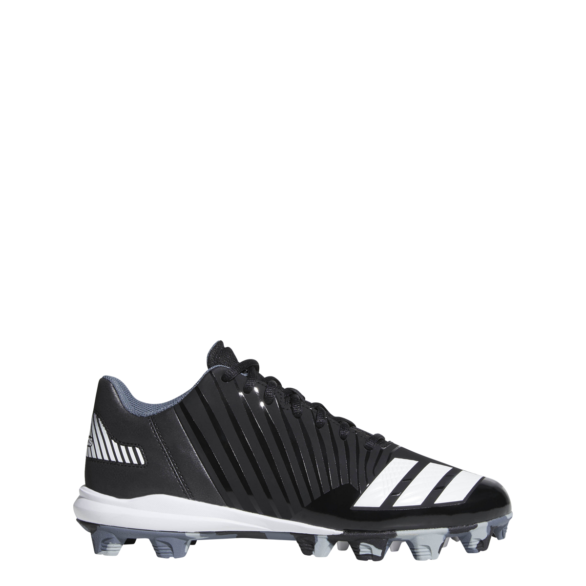 newest 9a448 f13a2 New Adidas Mens 11.5 Icon MD Molded Baseball Cleat Black White B39223
