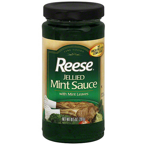 Reese Jellied Mint Sauce With Mint Leaves, 10.5 oz (Pack of 6)