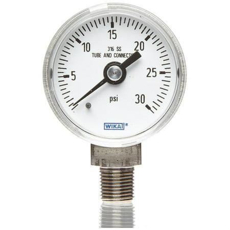 - Wika 759-9767088 0.25 in. 200 psi Industrial Pressure Gauge