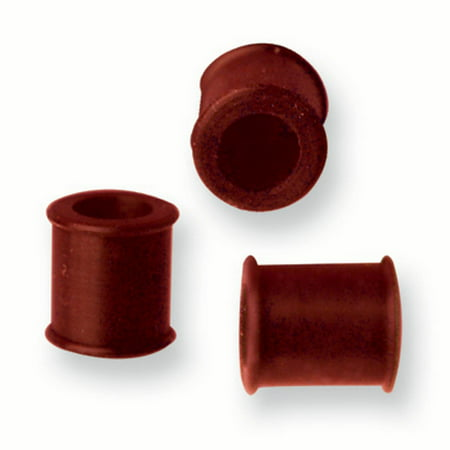 10mm Flesh Tunnel (Silicone Flexible Flesh Tunnels 00G (10mm) Red)