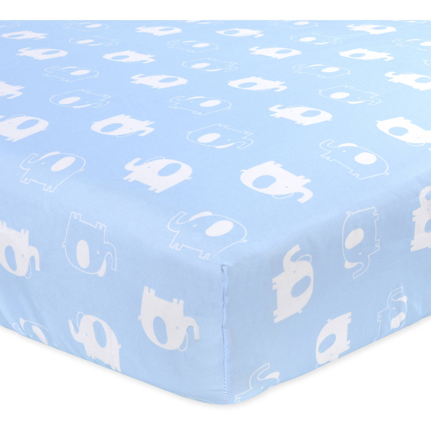 Garanimals Boating Buddies Microfiber Crib Sheet, Elephant