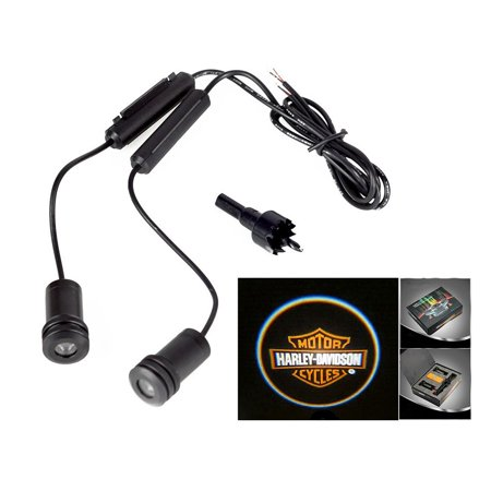 2x Harley Davidson Logo 5W Car Door Ghost Laser Projector LED Light 4th Generation
