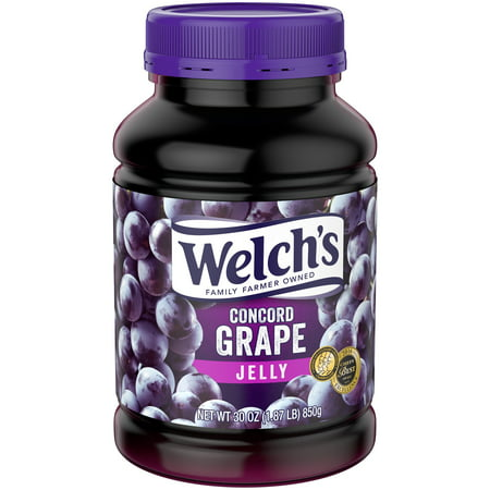 (4 Pack) Welch's Concord Grape Jelly, 30 (Homemade Jam Jelly)