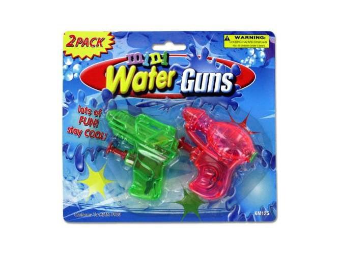 Mini Water Guns Set of 24 by Kole Imports
