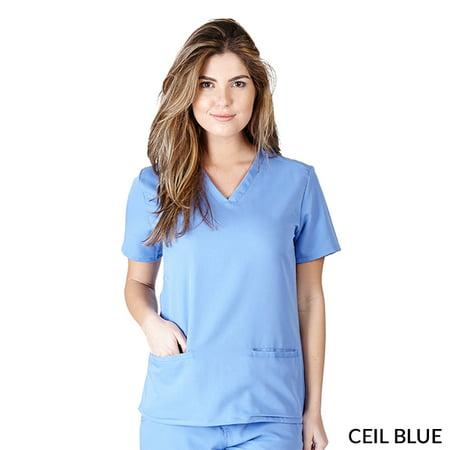 Ultrasoft Women's V-Neck Solid Medical Scrub Top, Style 8117
