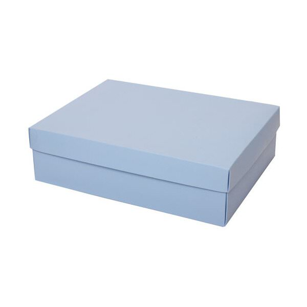 "JAM Paper Two Piece Gift Box, 10"" x 13 x 3 1/2"", Baby Blue, 100/pack"