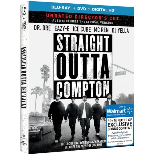 Straight Outta Compton (Blu-ray + DVD + Digital HD) (Walmart Exclusive) (With INSTAWATCH) (Widescreen)