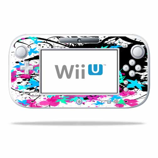 Mightyskins Protective Vinyl Skin Decal Cover for Nintendo Wii U GamePad Controller wrap sticker skins Leaf Splatter