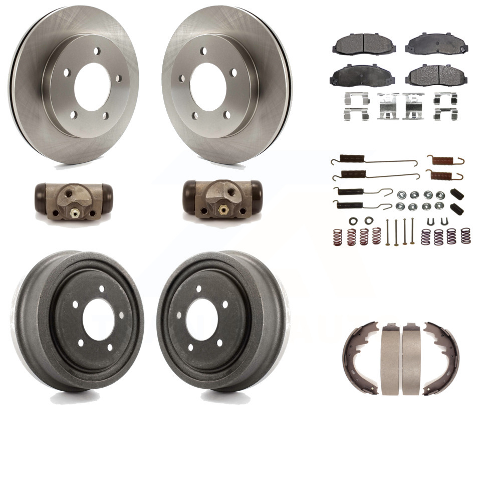 Front Rear Disc Brake Rotors And Semi-Metallic Pads Kit For Ford F-150