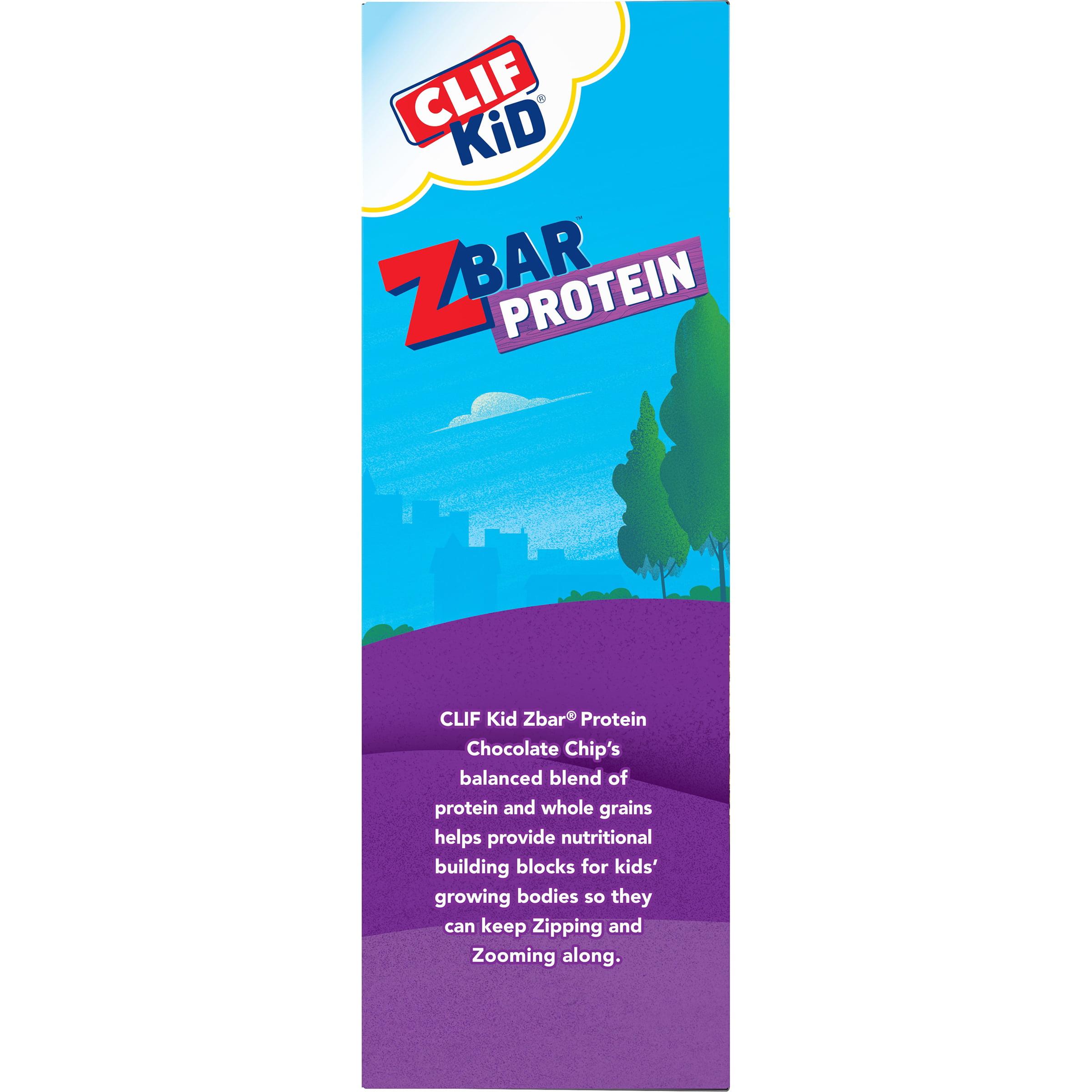 CLIF Kid Zbar Protein, Chocolate Chip, 1 27 Oz, 10 Ct
