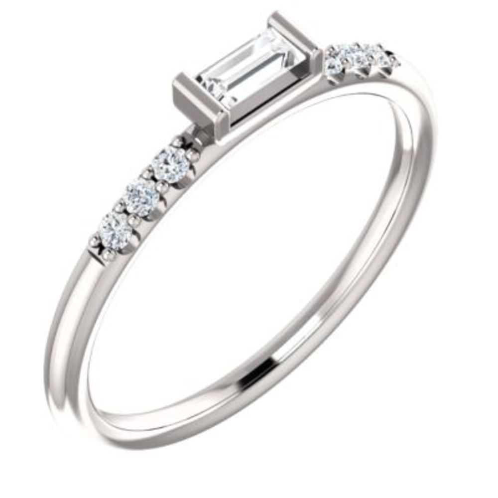 Platinum 1 5 CTW Diamond Stackable Accented Ring by Bonyak Jewelry