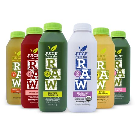 Juice From the RAW 3-Day ORGANIC Juice Cleanse - COLD-PRESSED (NEVER BLENDED) - 18 Bottles (16 fl oz) ()