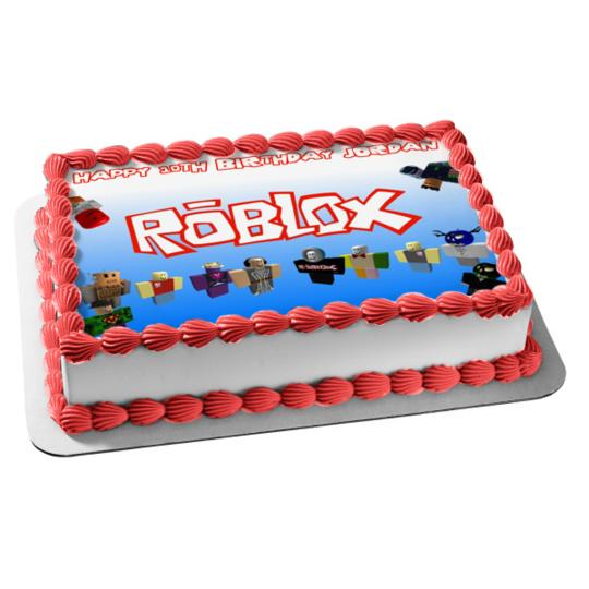 Amazing Roblox Custom Player Happy Birthday Edible Cake Topper Image Birthday Cards Printable Opercafe Filternl