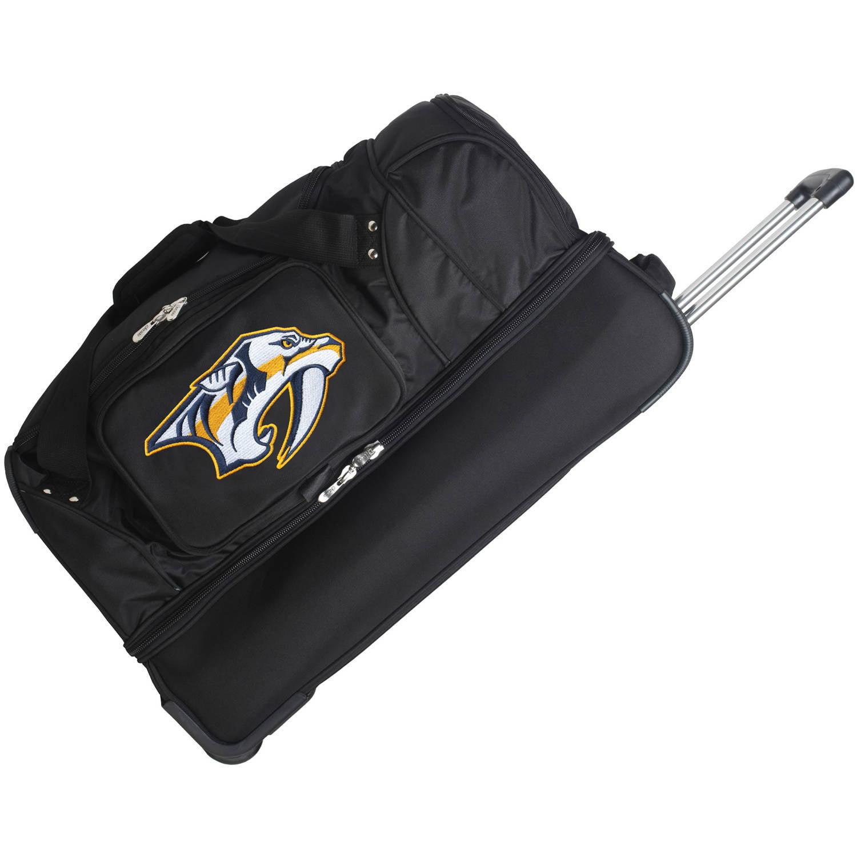 "Denco NHL 27"" Rolling Drop Bottom Duffel, Nashville Predators by Mojo Licensing"