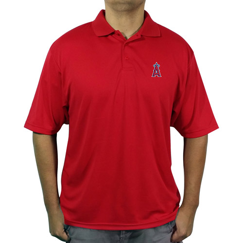 MLB LA (Anaheim) Angels Men's poly polo shirt