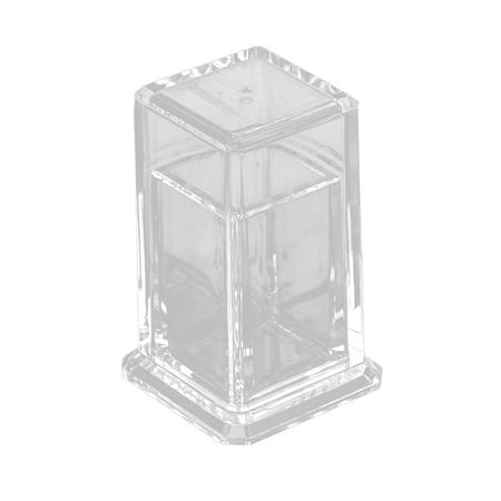 Uxcell Restaurant Hotel Family Plastic Cuboid Design Toothpick Storage Holder Clear