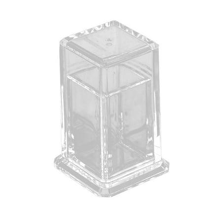 Uxcell Restaurant Hotel Family Plastic Cuboid Design Toothpick Storage Holder Clear (Plastic Toothpicks)