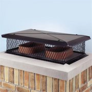 Lindemann 100271 17 Inches x 41 Inches Galvanized Gelco Chimney Cover