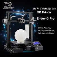 Creality 3D Ender-3 Pro High 3D Printer DIY Kit MK-10 Extruder with Resume Printing Function Heatbed Support 220*220*250mm Printing Size for Home & School Use