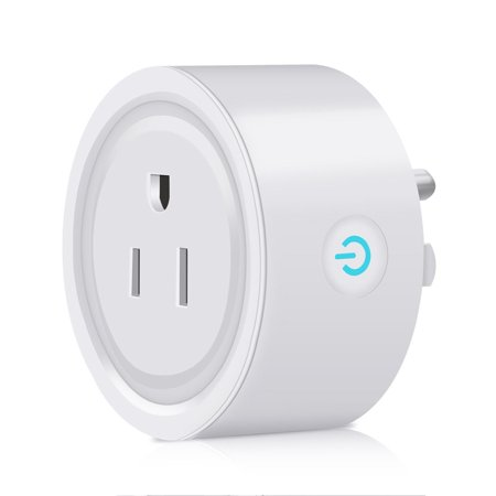 Smart Plug,Wi-Fi Smart Socket Outlet US Plug, No Hub Required, Timing Function, Works with Alexa, Control Lights and Appliances from Your Phone