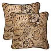 FHT Mix It Up Smoke 17-in Throw Pillows (Set of 2)