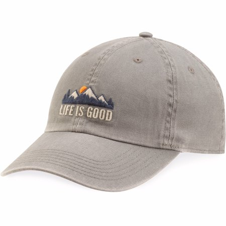 Life is Good. A Chill Cap LIG Mountains - Slate Gray