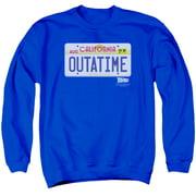 Back To The Future Outatime Plate Mens Crewneck Sweatshirt