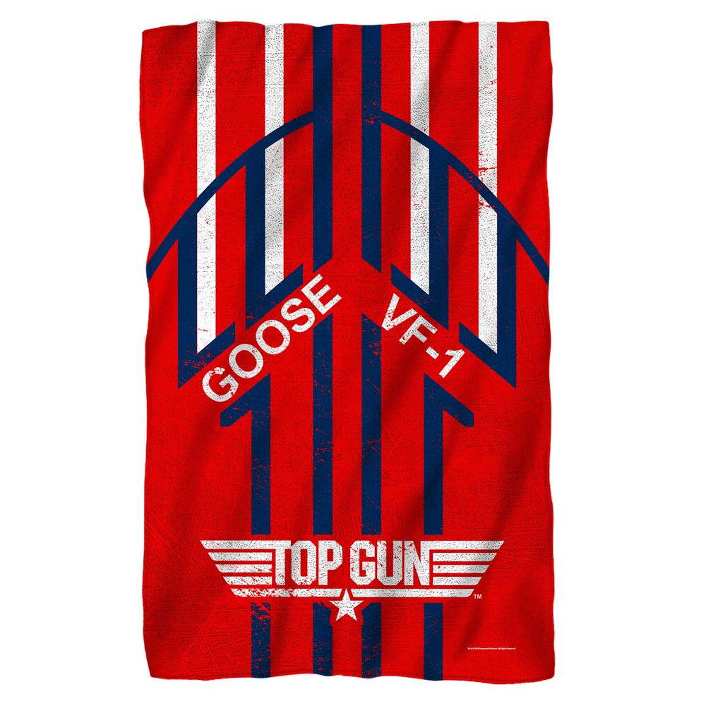 Top Gun Goose Fleece Blanket White 48X80