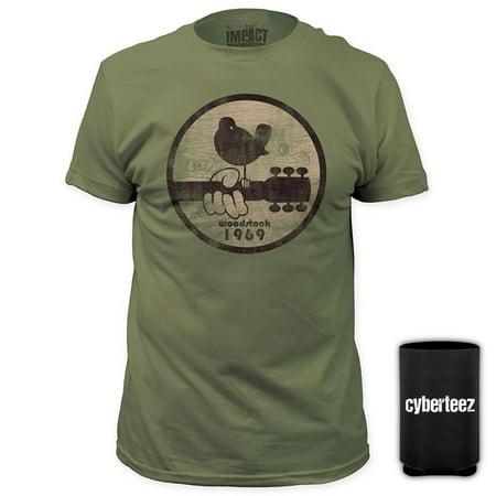 Woodstock Festival Logo 1969 GREEN T-Shirt + Coolie (S)