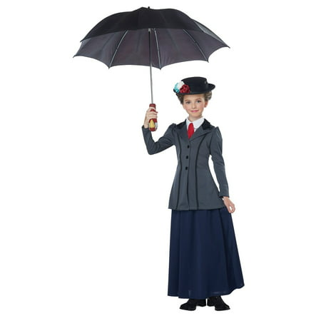 English Nanny Girl's Costume (Mary Poppins Kids Costume)