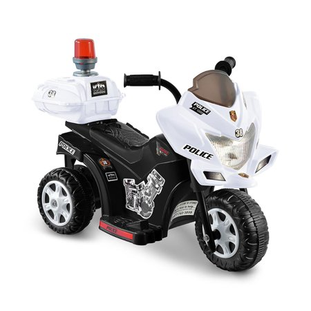 Police Motorcycle Accessories - 6V Black & White Lil Patrol Ride-on Police Motorcycle
