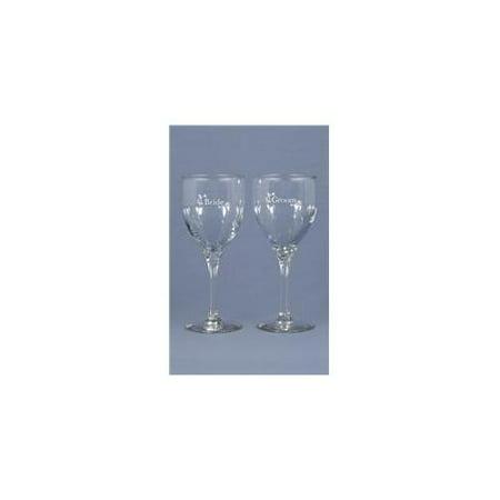 Hortense B. Hewitt Wedding Accessories Bride and Groom Wine Glasses, Set of 2 (Bride And Groom Wine Glasses)