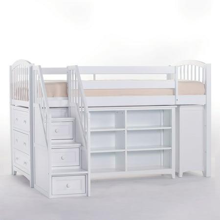Hillsdale School Storage Junior Loft Stairs White