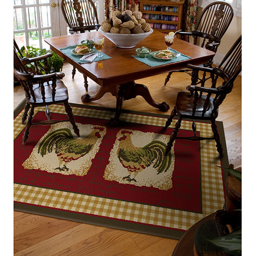 Orian Country Rooster Spanish Rug