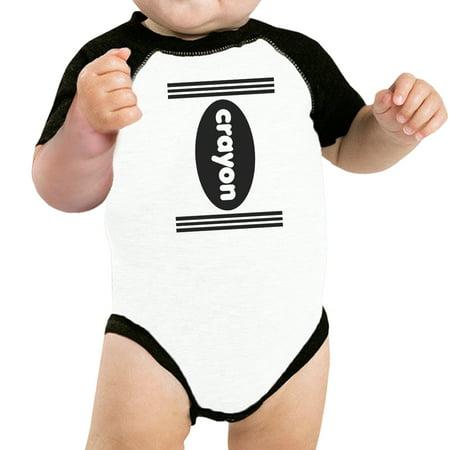 Crayon Funny Halloween Costumes For Baby Graphic Raglan Tee - Top Halloween Baby Names