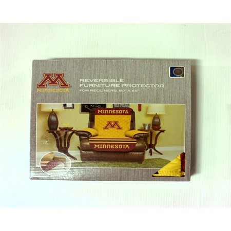 Pegasus Sports NCAA Minnesota Golden Gophers Recliner Reversible Furniture Protector with Elastic Straps, 80-inches by 65-inches